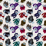 Cartoon halloween ghost seamless pattern Royalty Free Stock Images
