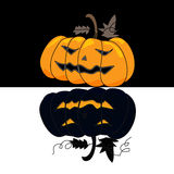 Cartoon halloween hand draw Stock Photography