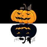 Cartoon halloween hand draw Stock Photography