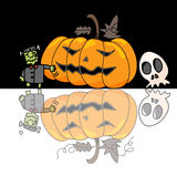 Cartoon halloween hand draw Stock Image