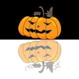 Cartoon halloween hand draw Royalty Free Stock Photo