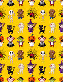 Cartoon Halloween holiday monster seamless pattern Stock Photography