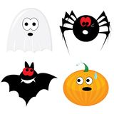 Cartoon halloween icon set Royalty Free Stock Image