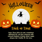 Cartoon halloween illustration with text Stock Photos