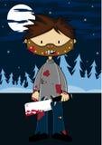 Cartoon Halloween Masked Killer Stock Image