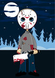 Cartoon Halloween Masked Killer Stock Photos
