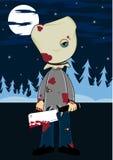 Cartoon Halloween Masked Killer Stock Photo