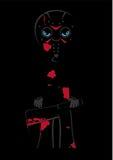 Cartoon Halloween Masked Killer Stock Photography