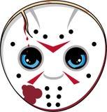 Cartoon Halloween Masked Killer Royalty Free Stock Photo