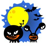 Cartoon Halloween monsters Stock Photos