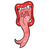 cartoon halloween mouth sticking out tongue Royalty Free Stock Photography