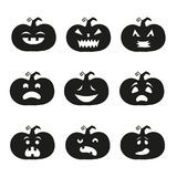 Halloween pumpkin icons. Cartoon halloween pumpkin icons. Vector illustration Royalty Free Stock Photo