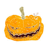 Cartoon halloween pumpkin Royalty Free Stock Photography