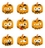 Cartoon halloween pumpkins Royalty Free Stock Photo