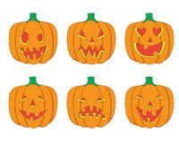 Cartoon Halloween Pumpkins Set Royalty Free Stock Photography