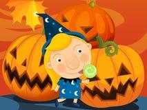 Cartoon halloween scene Royalty Free Stock Photos
