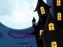 Cartoon halloween scene Royalty Free Stock Photography