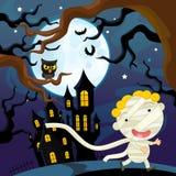 Cartoon halloween scene - mummy Stock Photo