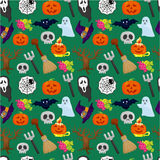 Cartoon Halloween seamless pattern Royalty Free Stock Images