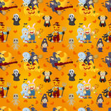 Cartoon Halloween seamless pattern Royalty Free Stock Image