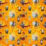 Cartoon Halloween seamless pattern Royalty Free Stock Image