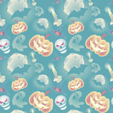 Cartoon Halloween seamless pattern background wallpaper Royalty Free Stock Photography