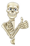 Cartoon Halloween Skeleton Thumbs Up Royalty Free Stock Images