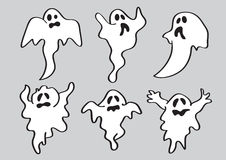 Cartoon Halloween White Ghost Royalty Free Stock Photo