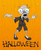 Cartoon halloween zombie. Stock Image