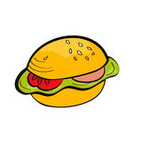 Cartoon hamburger Royalty Free Stock Photos