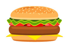 Cartoon hamburger Royalty Free Stock Images