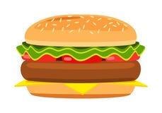 Cartoon hamburger Royalty Free Stock Images