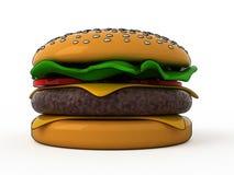 Cartoon hamburger. With black contours Royalty Free Stock Photo