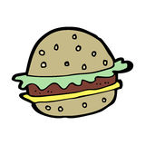 Cartoon hamburger Royalty Free Stock Photography