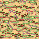 Cartoon hamburger seamless pattern Royalty Free Stock Image