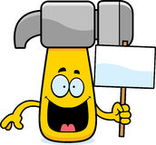 Cartoon Hammer Sign Royalty Free Stock Photos