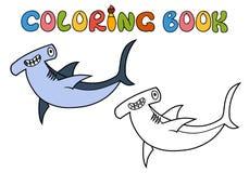 Cartoon Hammerhead shark Stock Image