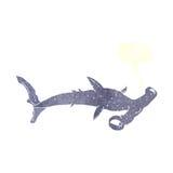 cartoon hammerhead shark with speech bubble Royalty Free Stock Image