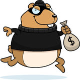 Cartoon Hamster Burglar Royalty Free Stock Images