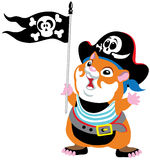 Cartoon hamster pirate Stock Image