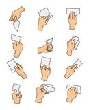 Cartoon hand card Royalty Free Stock Image