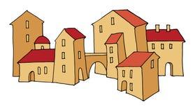 Cartoon hand drawing houses Stock Photo