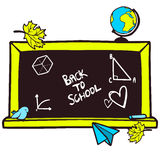Cartoon hand drawn blackboard Royalty Free Stock Images