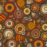Cartoon hand-drawn coffee shop seamless pattern Royalty Free Stock Photography