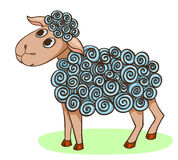 Cartoon hand-drawn cute sheep Royalty Free Stock Photo