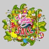 Spring sale in frame stock illustration
