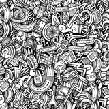 Cartoon hand-drawn doodles car style theme Royalty Free Stock Images