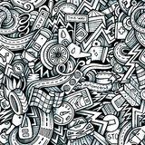 Cartoon hand-drawn doodles car style theme Stock Images