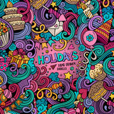 Cartoon hand-drawn doodles holidays illustration Stock Photography