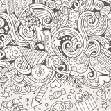 Cartoon hand-drawn doodles holidays illustration Royalty Free Stock Image
